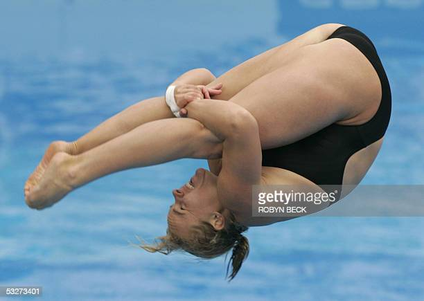 Bltythe Hartley of Canada performs during the Women's 3m Springboard competition at the 11th World Swimming Championships 22 July 2005 in Montreal...