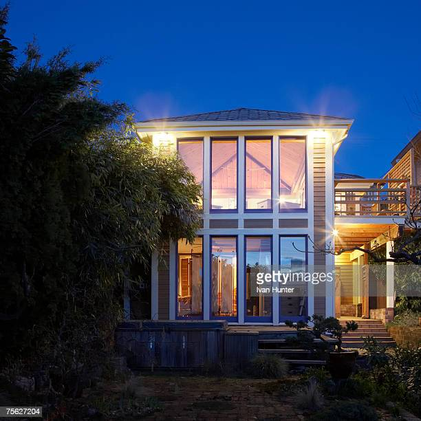 Canada, British Columbia, Burnaby, exterior of house, dusk