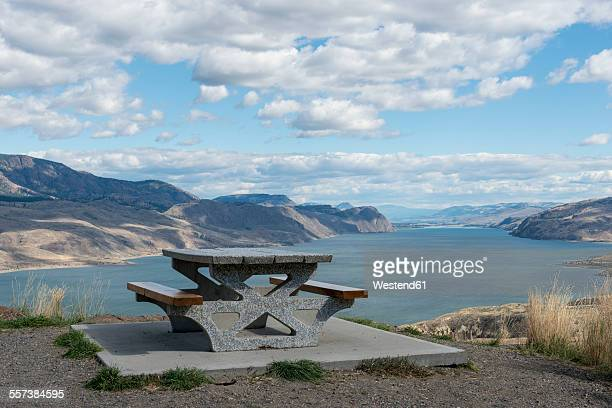 Canada, British Columbia, Kamloops, rest area at Kamloops Lake