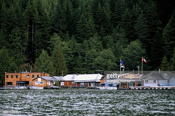 Canada British Columbia Knight Inlet Fjord View Of Knight Inlet Lodge