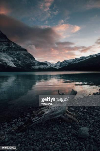 Canada, British Columbia, Mount Robson Provincial Park, Fraser-Fort George H, Berg Lake, Berg Glacier, Mist Glacier