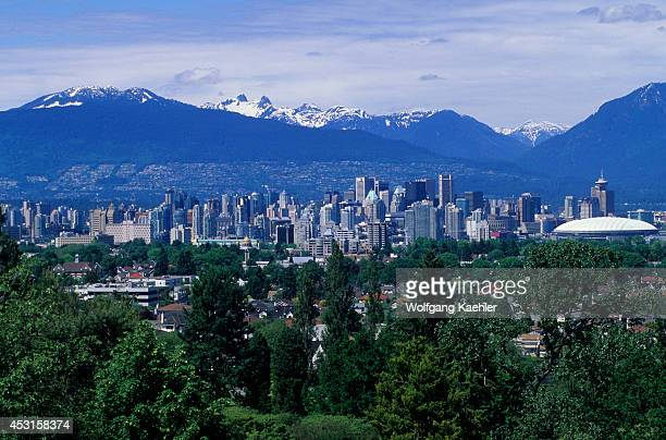 Canada British Columbia Vancouver Bloedel Floral Conservatory View Of Downtown