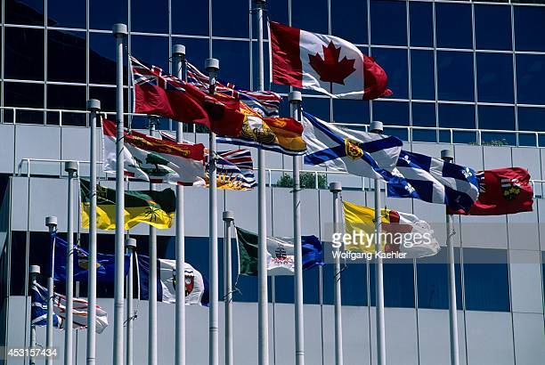 Canada British Columbia Vancouver Cruise Ship Terminal Canadian Provincial Flags