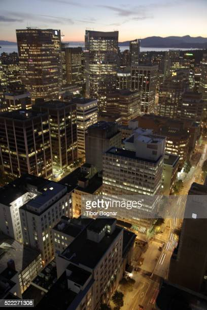 Canada, British Columbia, Vancouver, downtown aerial view