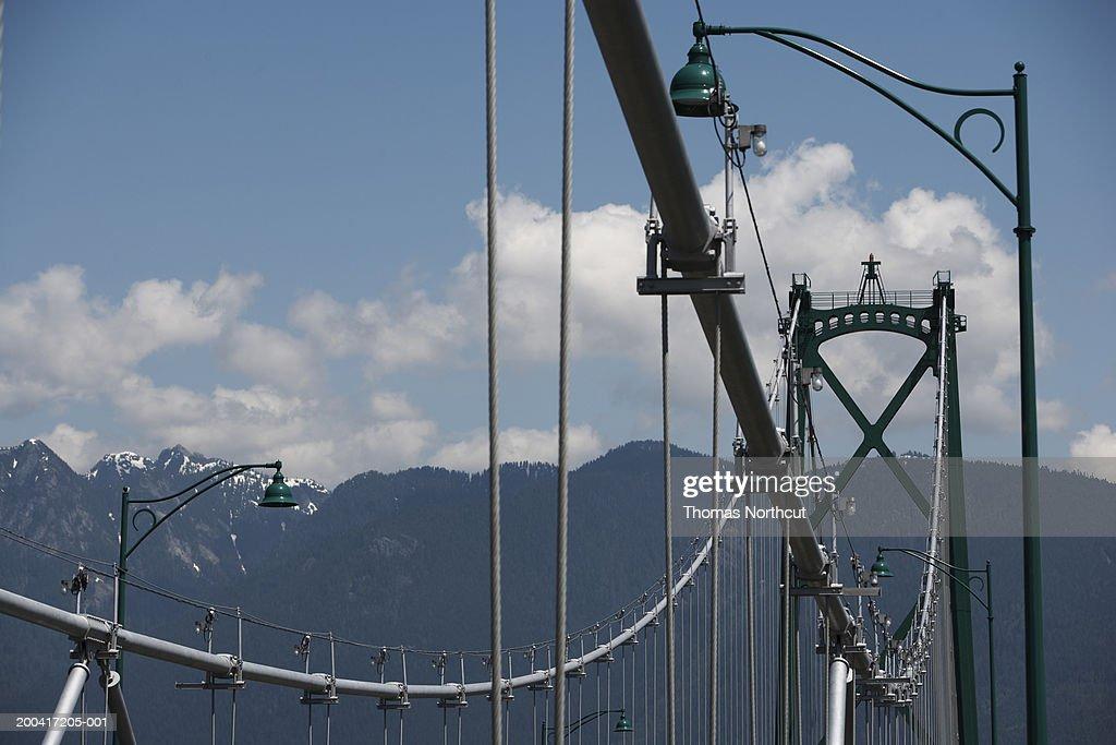 Canada British Columbia Vancouver Lions Gate Bridge Low Angle View ...
