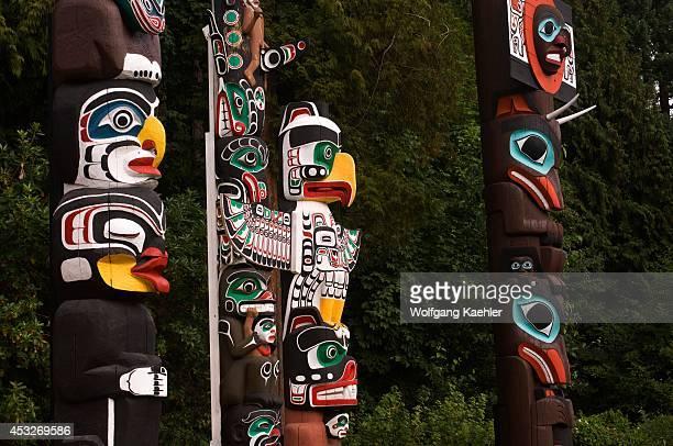 Canada British Columbia Vancouver Stanley Park Totem Poles