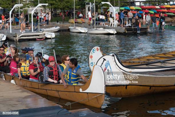 Canada Day 150th Anniversary of confederation Canoe tour in Lake Ontario First Nations related recreation