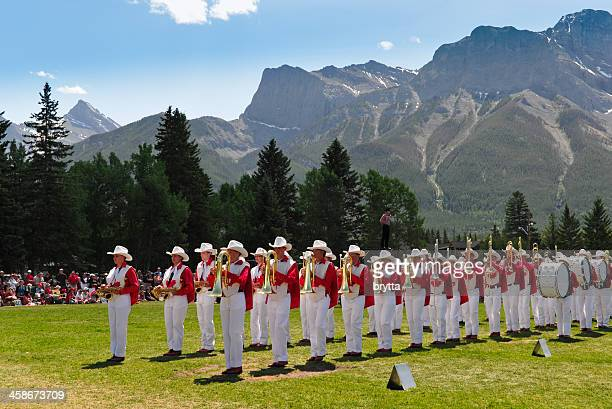 Canada Day celebration with brass band in Canmore,Alberta,Canada