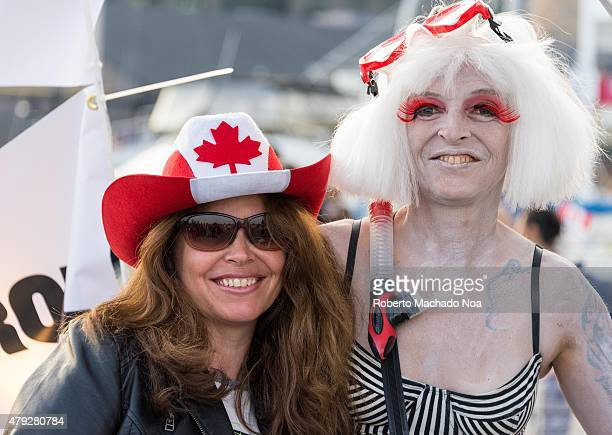 SQUARE TORONTO ONTARIO CANADA Canada Day celebrations in TorontoPromotion for books of Katja Rudolph and Dany Lyne in the harborfront The books are...