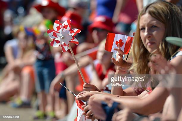 Canada Day parade in Sherwood Park On Friday 1 July 2016 in Edmonton Alberta Canada