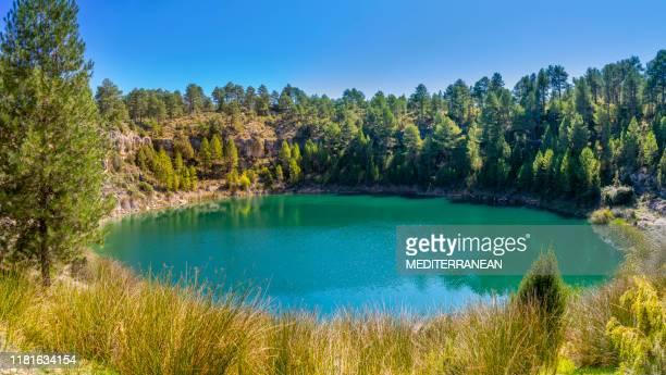 canada del hoyo in cuenca laguna de la gitana - cuenca provincia de cuenca fotografías e imágenes de stock