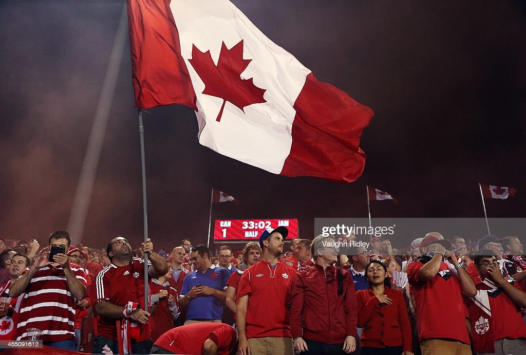 Canada fans cheer during the International Friendly match between Canada and Jamaica at BMO Field on September 09, 2014 in Toronto, Ontario, Canada.