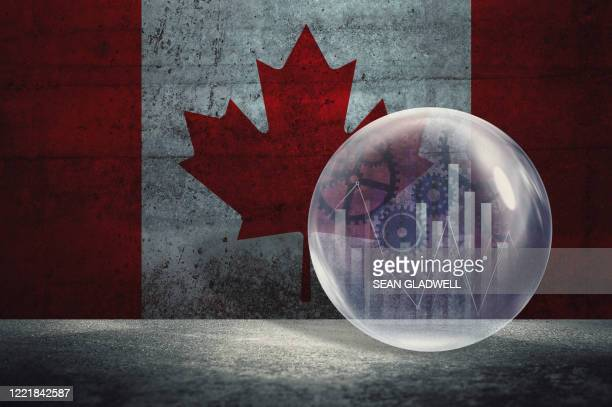 canada financial bubble - canada stock pictures, royalty-free photos & images