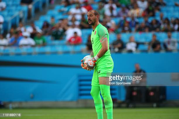Canada goalkeeper Milan Borjan with the ball during the 1st half of the CONCACAF Gold Cup game with Canada versus Cuba on June 23rd at Bank of...
