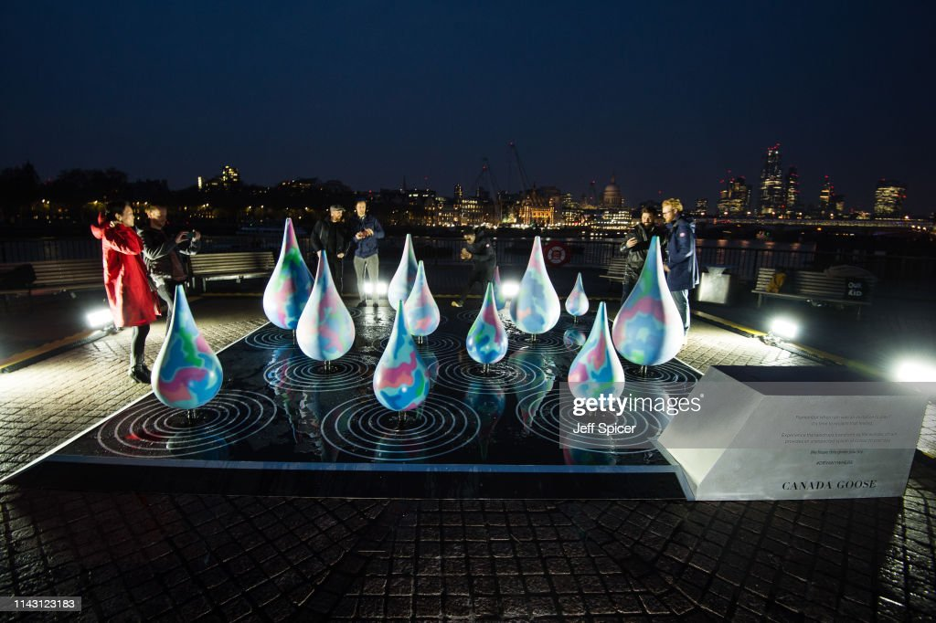 GBR: Canada Goose Celebrates Spring Showers With Rain Activated Installation In London