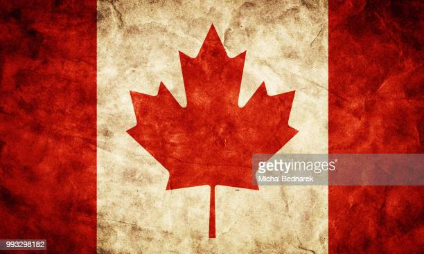 canada grunge flag. item from my vintage, retro flags collection - モダンロック ストックフォトと画像