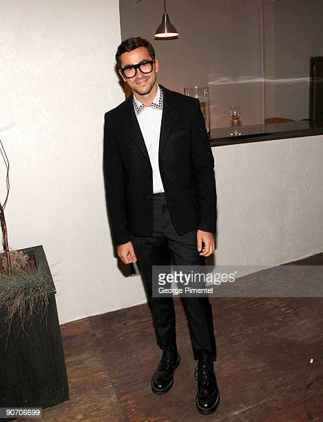 Canada host Dan Levy attends the Holt Renfrew launch of Vignettes with Alexa Chung Coco Rocha and The Stills held at the Burroughes Building during...