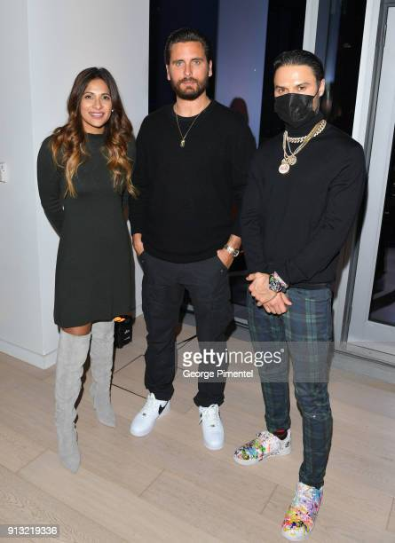 Canada Host Sangita Patel Scott Disick and Alec Monopoly attend the celebration of The 5 year Anniversary Of The Concierge Club at The Globe and Mail...