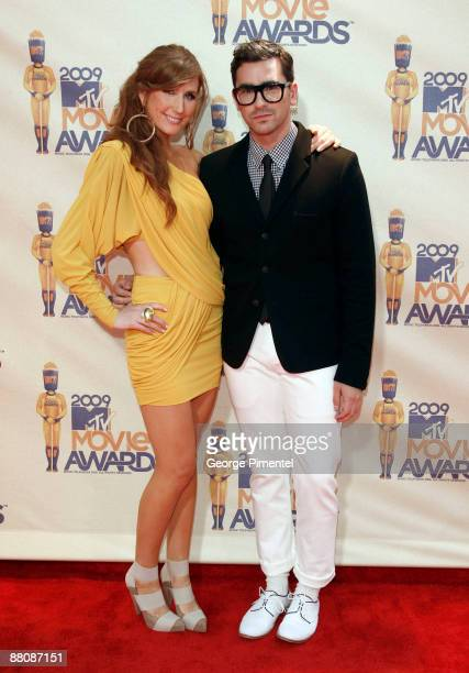 Canada hosts Jessi Cruickshank and Dan Levy arrive at the 2009 MTV Movie Awards held at the Gibson Amphitheatre on May 31 2009 in Universal City...