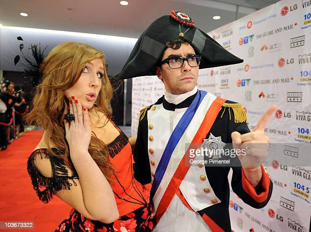 Canada hosts Jessi Cruickshank and Dan Levy attend the 2008 Fashion Cares Gala at the Metro Toronto Convention Centre on November 1, 2008 in Toronto,...