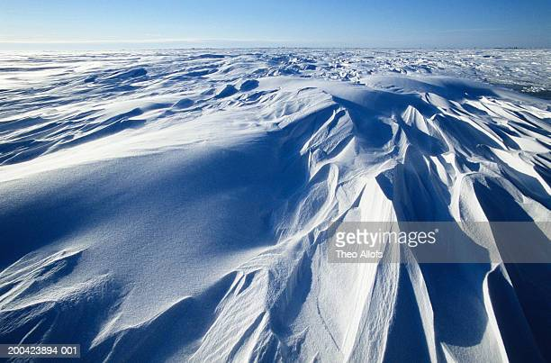 Canada, Manitoba, Wapusk National Park, elevated view of tundra