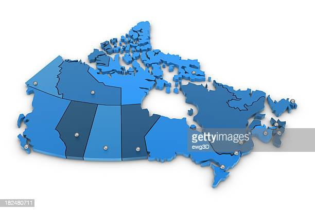 canada map - north america stock pictures, royalty-free photos & images