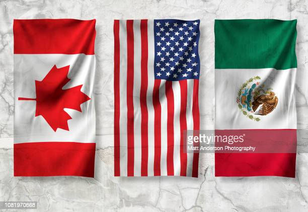 usa canada mexico flag 8k resolution on texture v11 - canadian flag stock pictures, royalty-free photos & images