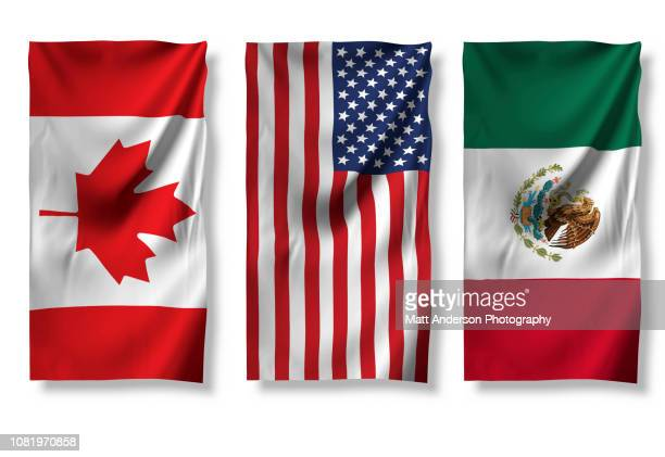 usa canada mexico flag 8k resolution on white v11 - mexican flag stock pictures, royalty-free photos & images