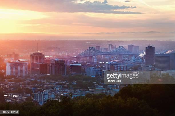 Canada, Montreal, cityscape at sunrise