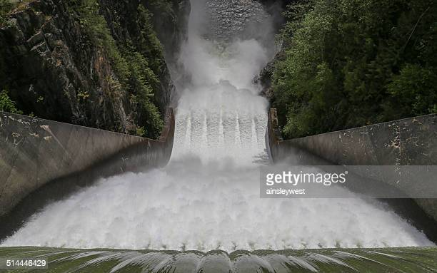 Canada, North Vancouver, Cleveland Dam, Waterfall