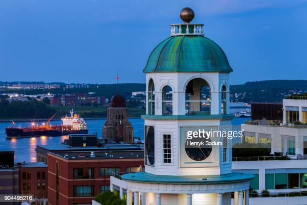 canada, nova scotia, halifax, building of town clock - halifax nova scotia stock pictures, royalty-free photos & images