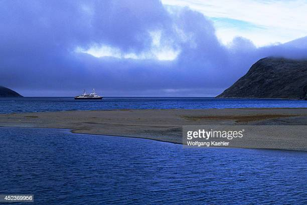 Canada Nunavut Hudson Bay Digges Island Erik Cove World Discoverer Ship