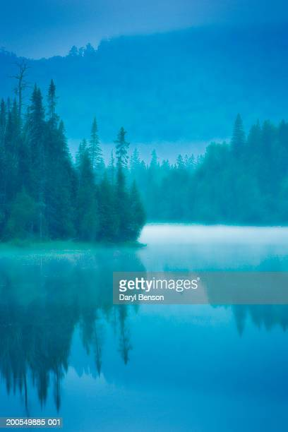canada, ontario, lake superior provincial park, mist over lake, dawn - lake superior provincial park stock pictures, royalty-free photos & images