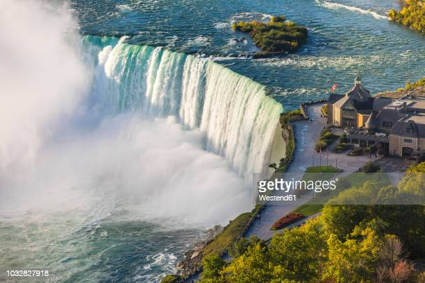 canada, ontario, niagara falls, aerial view - niagara falls stock pictures, royalty-free photos & images