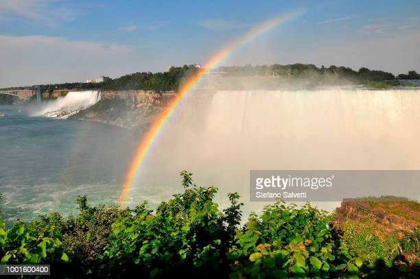 Canada, Ontario, niagara falls Canadian side and in the background USA side