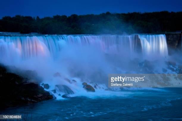 Canada, Ontario, niagara falls canadian side at dusk