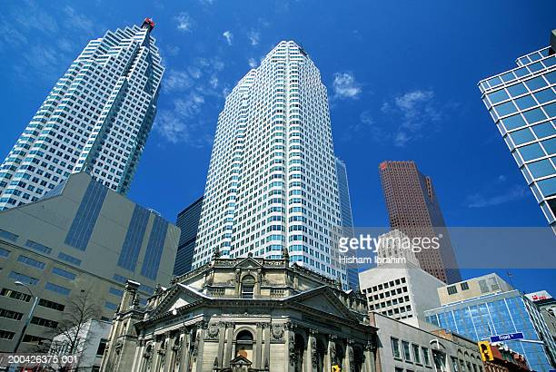 Canada, Ontario, Toronto, skyscrapers, low angle view
