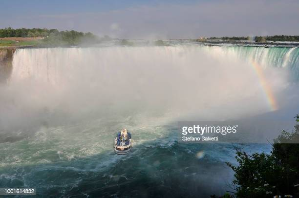Canada, Ontario, touristic boat at niagara falls