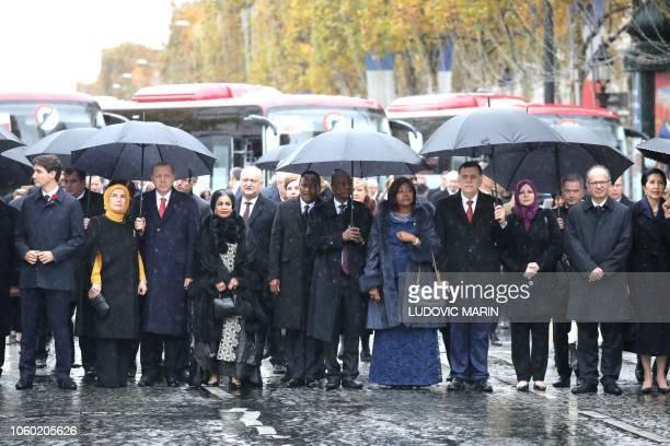 Canada prime minister Justin Trudeau Turkish President's wife Emine Erdogan Niger's President's Lalla Malika Issoufou Niger's President Mahamadou...