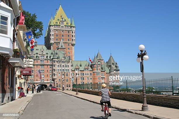 canada: quebec city - chateau frontenac hotel stock pictures, royalty-free photos & images