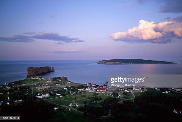 Canada Quebec Gaspe Perce With Bonaventure Island In Background