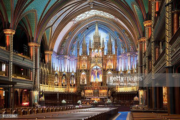 canada. quebec. montreal.  - notre dame de montreal stock photos and pictures
