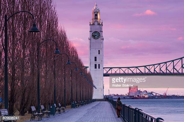 canada, quebec, old port clocktower - montreal stock pictures, royalty-free photos & images