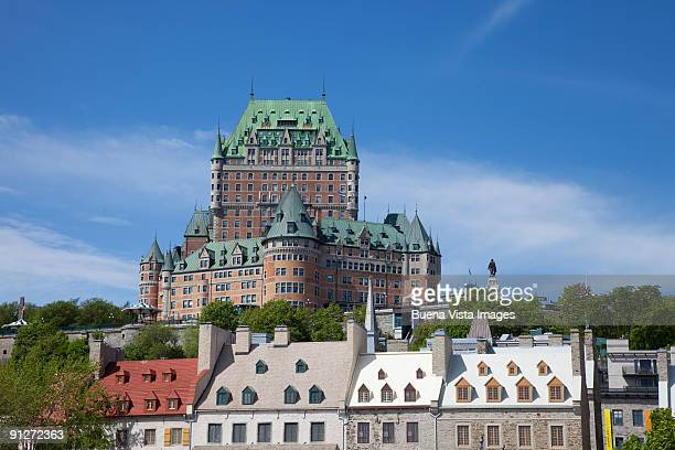 canada. quebec. quebec city. - chateau frontenac hotel stock pictures, royalty-free photos & images