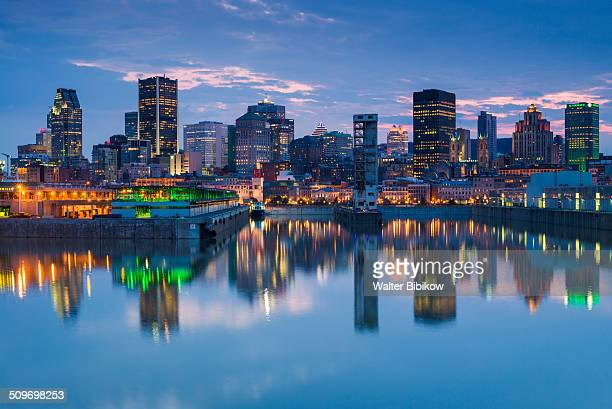 canada, quebec, skyline and old port - montréal stock pictures, royalty-free photos & images