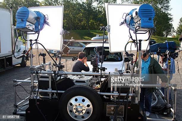 canada: television production - film crew stock photos and pictures