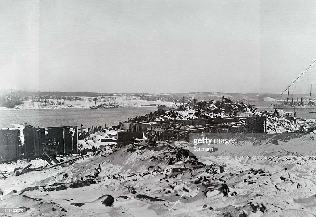 Halifax After Ship Explosion on Harbor : News Photo