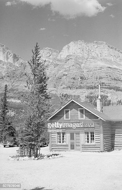 The Trading Post along the Saskatchewan River is located on the Columbia Ice Fields Highway in the Canadian Rockier