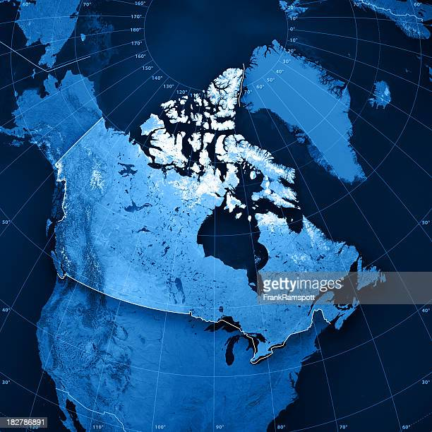 canada topographic map - north america stock pictures, royalty-free photos & images