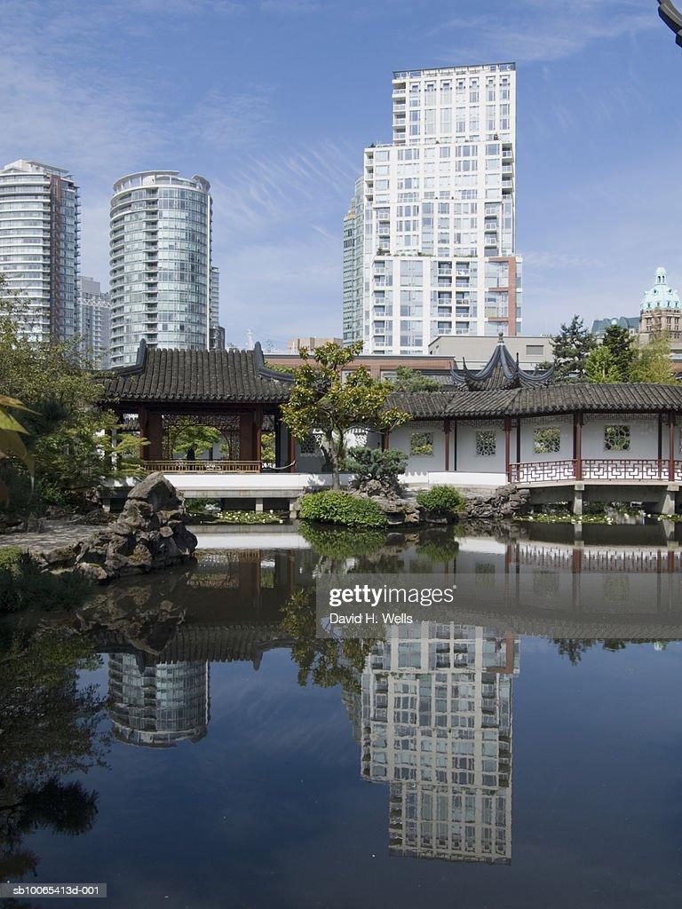 Canada, Vancouver, garden in Chinatown : Foto stock
